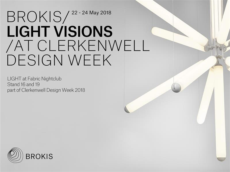 Visit Brokis at Clerkenwell Design Week 22-24 May